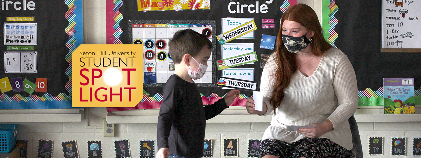 Education Major Puts Learning Into Practice at Child Development Center