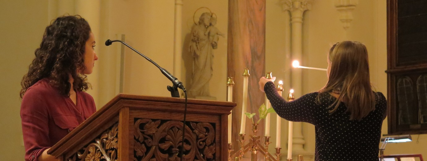 "Seton Hill's Kristallnacht Remembrance Interfaith Service on November 12, 2019 to Commemorate the 81st Anniversary of the ""Night of Broken Glass"""