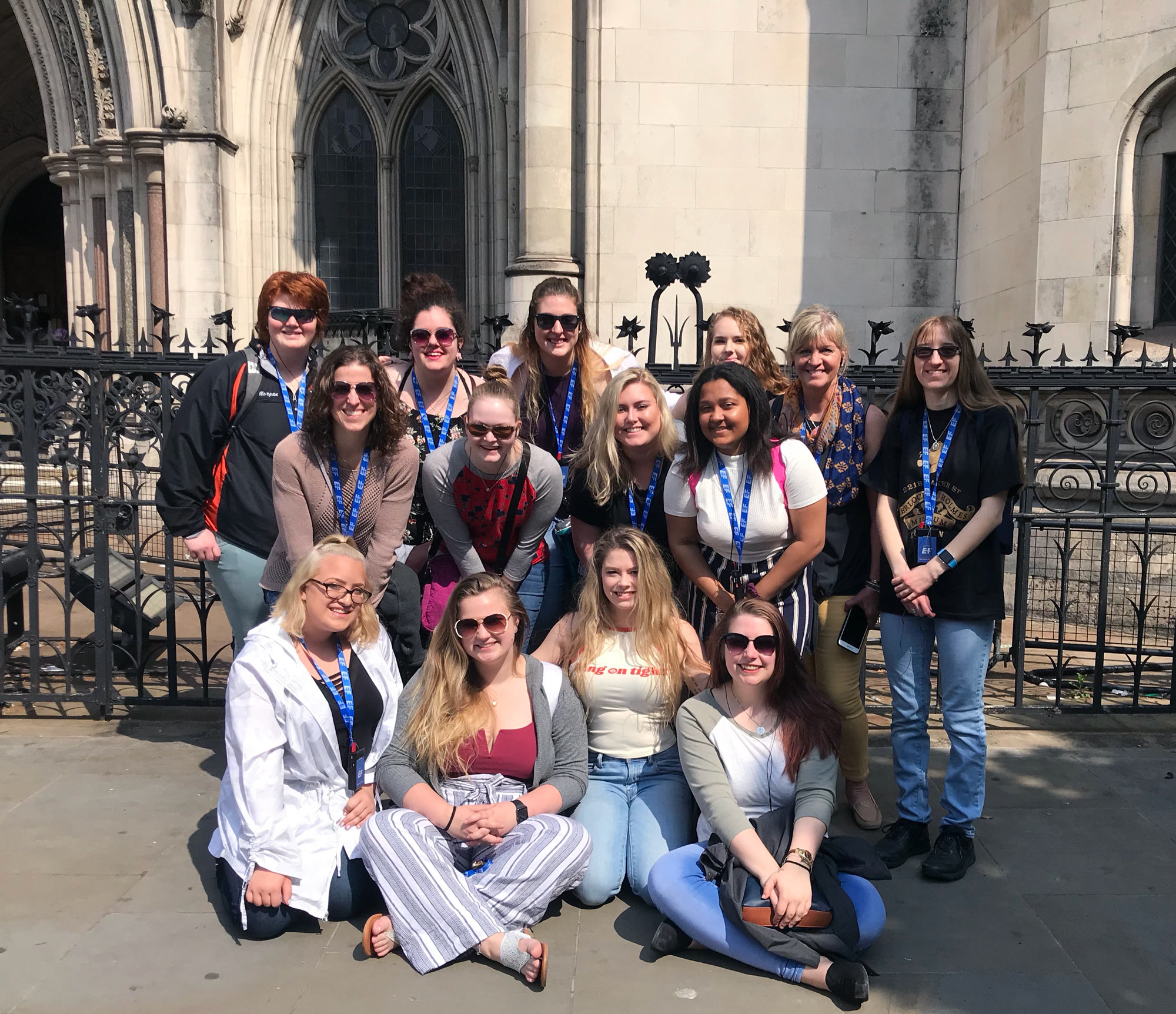 Seton Hill students and faculty in London